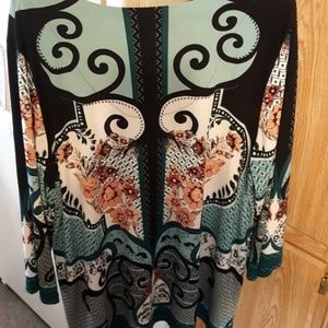 JM Collection Tops - Embellished tunic